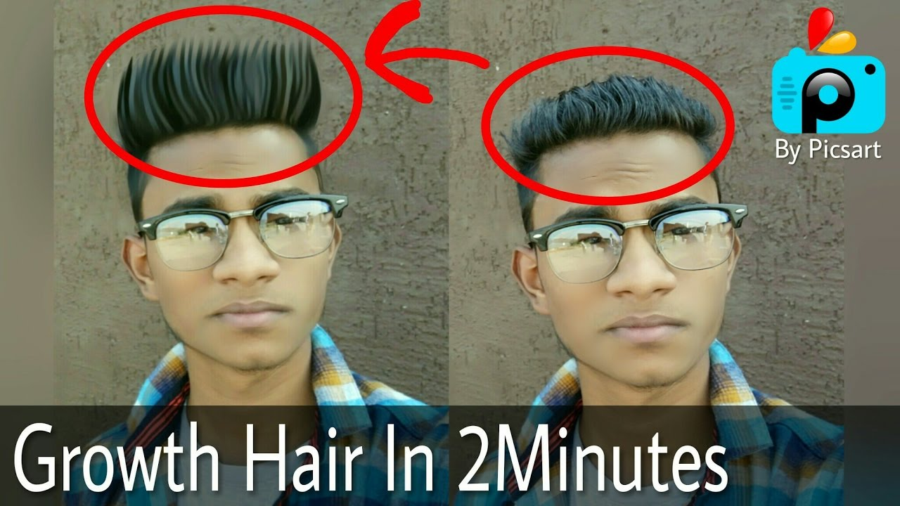 Straight Hair In Few Minutes How To Change Hair Style In Picsart