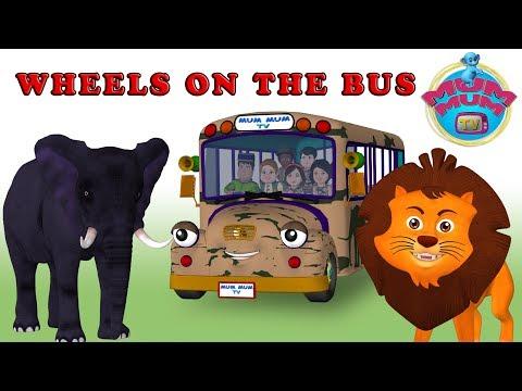 The Wheels On The Bus Song - Learn Wild Animal's Sounds | San Diego Zoo Wildlife Safari