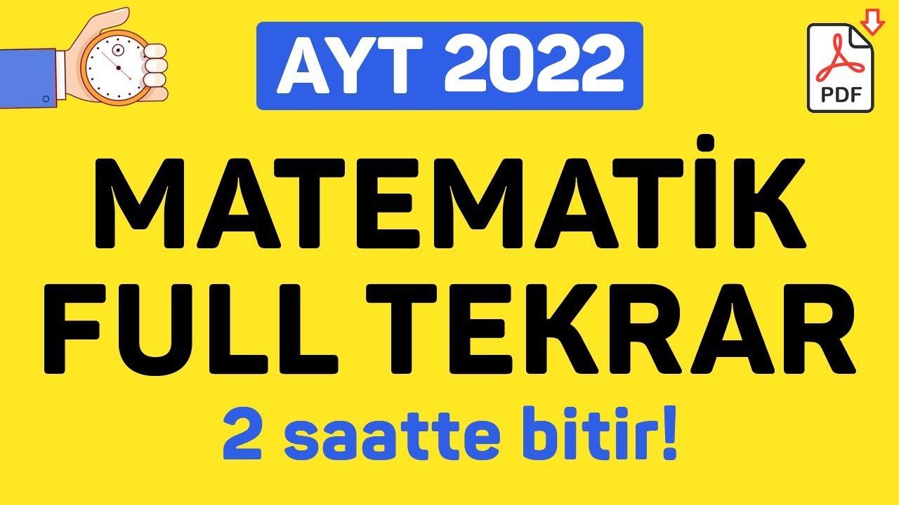 AYT MATEMATİK FULL TEKRAR   2021   +PDF   ŞENOL HOCA