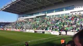 Northern Ireland fans singing Sweet Caroline
