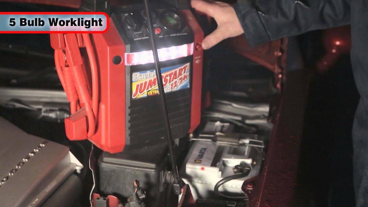 Clarke Dual Voltage Jump Start 1224V  YouTube