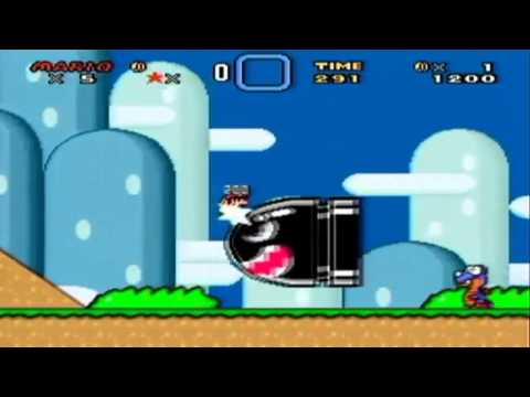 Super Mario World with Sonic the Hedgehog sound effects.