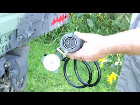 Military Humvee To Civilian Trailer Power Cord Wiring Harness Federal Military Parts Youtube
