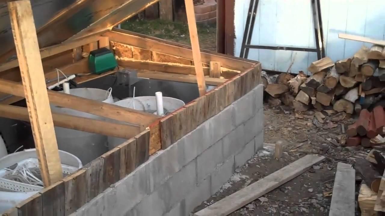 4000 gallon koi pond 2nd video youtube for Koi pond gallons
