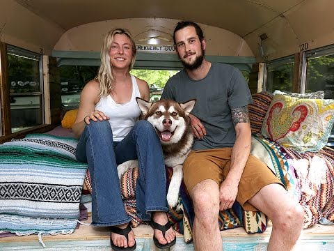 Tiny Homes in Greater Cincinnati: Ashley and Dan's school bus turned tiny home