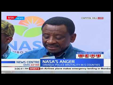 Senator James Orengo shares NASA's anger over the killing of 5 supporters in Migori County