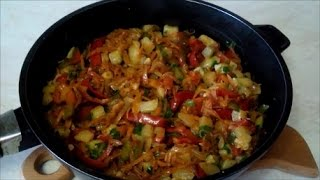 Вкусное лечо из кабачков dish of zucchini . Рецепт салата