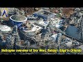 Star Wars: Galaxy's Edge at Disney's Hollywood Studios, aerial construction tour