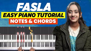 Fasla Christian Song - Easy Piano Tutorial | Piano Chords & Notes | Keyboard Chords | Yeshu Ke Geet