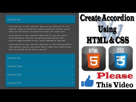 How To Create Animated Accordion In HTML | Create CSS Accordion, HTML5 & CSS3 AmazingTechnoTutorials