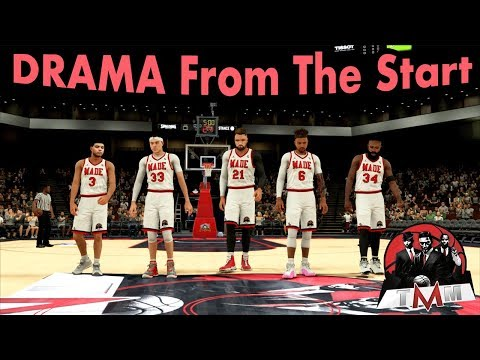 Drama Coming Into The Game   NBA 2K18 Pro AM   Full Comp Game