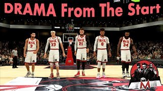 Drama Coming Into The Game | NBA 2K18 Pro AM | Full Comp Game