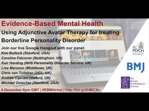 Using Adjunctive Avatar Therapy for Treatment of Borderline Personality Disorder
