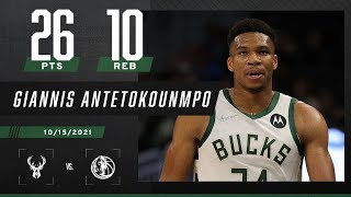 Giannis with 26 PTS in 25 MIN 🔥