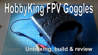 Build and Review of the HobbyKing Quanum DIY FPV Goggle Set with Monitor (kit)