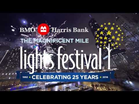 The 25th Annual BMO Harris Bank Magnificent Mile Lights Festival