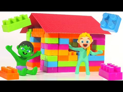 Kids Building A House With Construction Toys ❤ Cartoons For Kids
