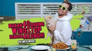 Makan 40 Daging WINGSTOP Dengan ANJING!!!  #KemeKendor1