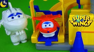 Super Wings Toys Stories for Kids Jett Runway Astra Dizzy Donnie Fix it Up Garage Playset Toy Video