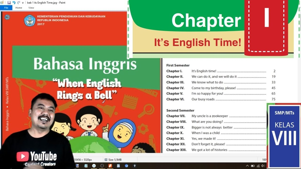 Bahasa Inggris Kelas 8 Bab 1 Its English Time Bse K13 Revisi 2017 Youtube
