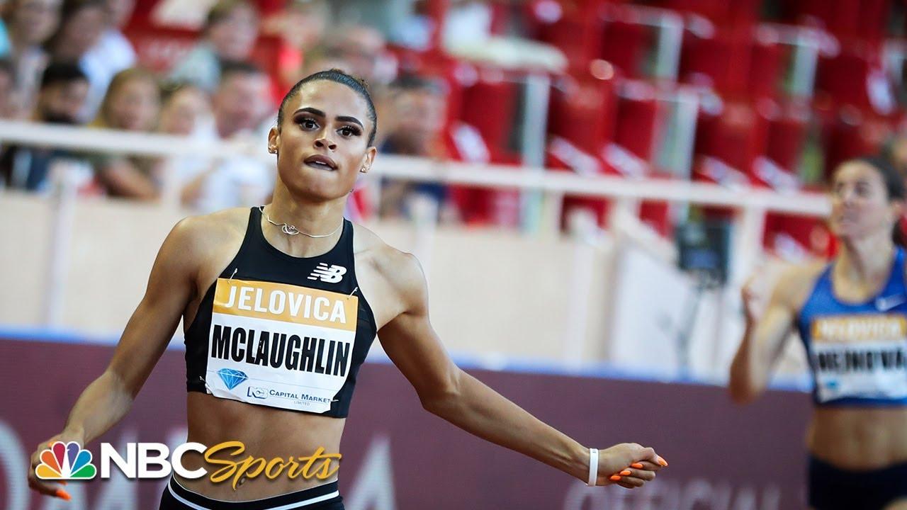 Sydney McLaughlin runs 400-meter hurdles in record-breaking ...