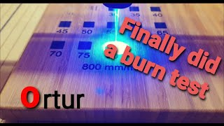 Ortur Laser Master 2 Burn Rate