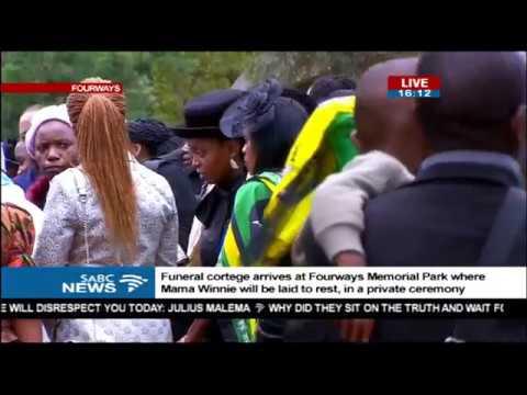 Winnie Madikizela Mandela burial proceedings at Fourways Park Cemetery