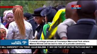 Winnie Madikizela Mandela burial proceedings at Fourways Park Cemetery