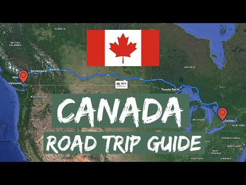 Canada Road Trip: Toronto To Vancouver In 7 Minutes (2020) 4K