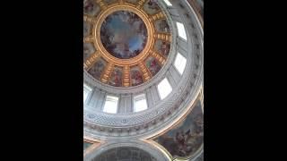 アンヴァリッド:ドーム状の天井画(2014年11月)