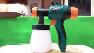 Краскопульт Bort BFP 350 распаковка обзор тест