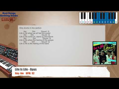 Live is Life - Opus Piano Backing Track with chords and lyrics