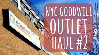 ✧ NYC Goodwill Outlet Haul #2! + Clothes Try-On ✧