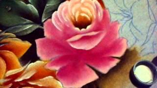 Pintura em tecido – Rosas