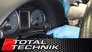 How to Remove Instrument Cluster (Speedo Speedometer) - Audi A4 S4 RS4 - B6 B7 - TOTAL TECHNIK