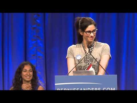 Sarah Silverman Introduces Bernie Sanders in L.A.