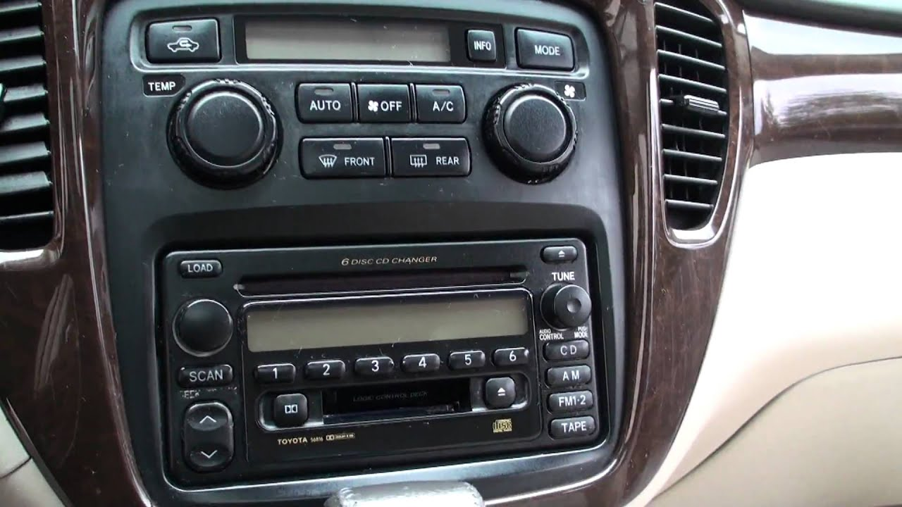 2003 Toyota Highlander Limited Edition 8 YouTube
