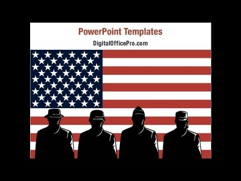 US Military Force PowerPoint Template Backgrounds - DigitalOfficePro #01095