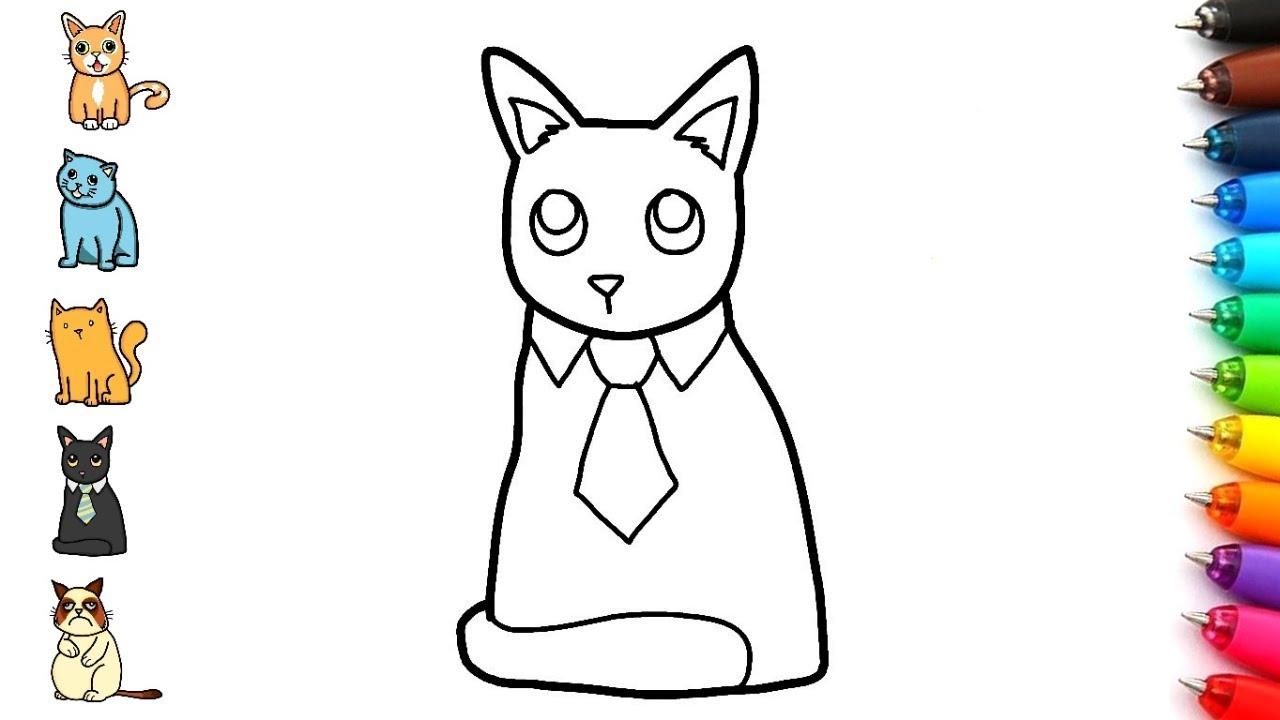 Dibujos Faciles De Gatos Como Dibujar Un Gato Colorear Dibujos