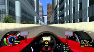 Rfactor SRM F1 1990 Mod Ferrari 641 V12 Detroit Street Circuit Lap