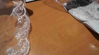 Фата с кружевом с Алиэкспресс, красивая посылка.