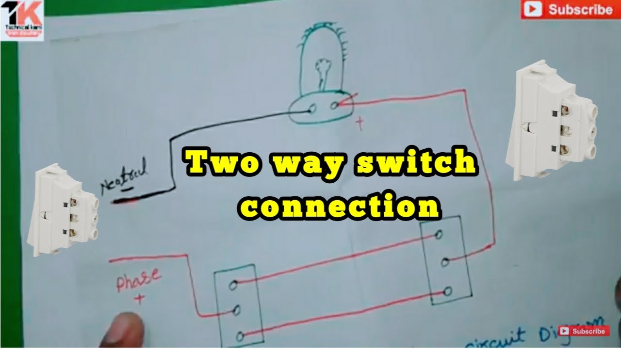 Two way switch connection with diagram in urdu hindi YouTube