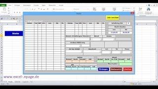 """36_Zeiterfassungsprogramm in Excel selber erstellen. Befehlsschaltfläche """"Einsatzort"""" einfügen."""