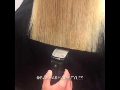 Женская стрижка волос машинкой видео