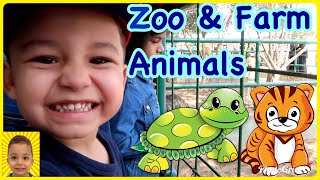 Learn Zoo and Farm Animals  for Kids