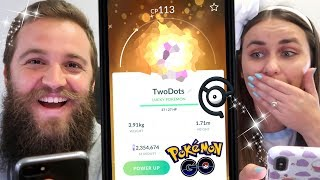 AMAZING LUCKY SHINY SPECIAL TRADES WITH ZOETWODOTS (FUNNY REACTIONS) - POKEMON GO