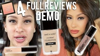 4 new wet n wild photo focus foundation concealer catsuit liquid lip blush review   demo