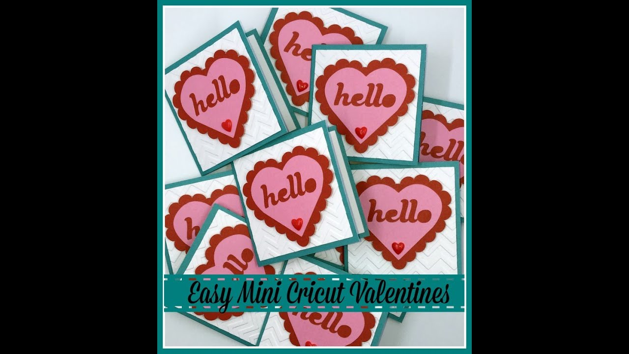 Valentines Day Cricut Artiste Mini Cards  YouTube