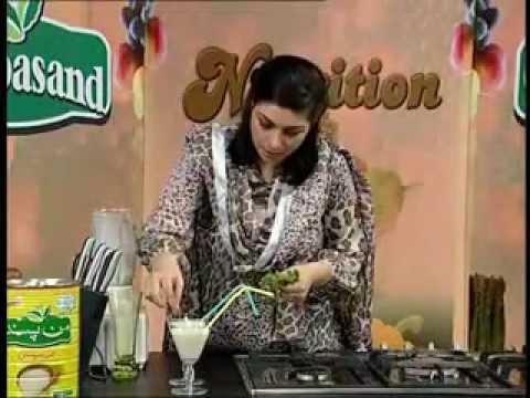 Nutritions with Madiha Kiyani Episode#02 Banana Smoothie at Zaiqa Tv Show