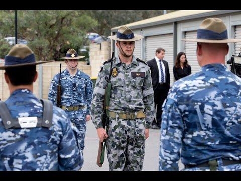 Australia's Federation Guard prepare for Anzac Day